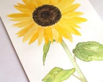 Sunflower Watercolor (Original)