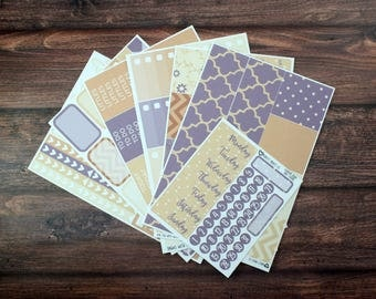 Country Plum Planner Sticker Kit, For use with Erin Condren Life Planner, Plum Paper Planner