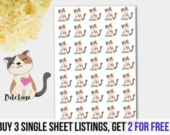 Dating Stickers,Cat Love Stickers, Cat in Love Stickers, Couples Stickers