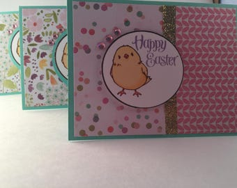 Happy Easter Handmade Greeting Cards (Baby Chick)
