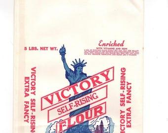 VINTAGE VICTORY SELF rising flour bag 5 lbs purdy virginia unused