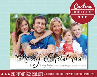 CHRISTMAS PHOTO CARD, Photo Card, Christmas, Holiday, Card, Photo,  digital Christmas card, printable card, Custom, Family, Merry Christmas