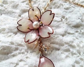 Resin Cherry Blossom Pedant