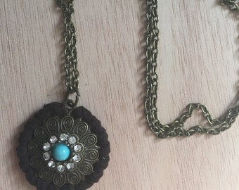 Wrapped Floral Necklace