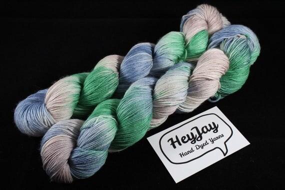 4ply Hand Dyed Yarn Superwash Merino Peace