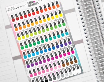 """Nail Polish Stickers - 96  """"A Polish of Rainbow"""" Stickers - Exclusive Nail Polish Manicure and Pedicure Decorative Stickers"""