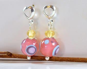 Earrings / / earrings / / rose / / MURANOS / / circles / / artisanal for women / / silver