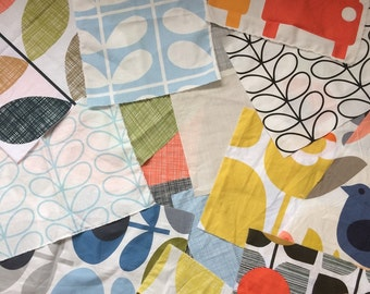 Orla Kiely scrap fabric bundle | Quilting fabric | Patchwork  *** SHIPPING INCLUDED ***