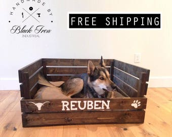 wood dog bed pallet cat bed flippable pet bedding reclaimed wood dog bedding