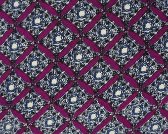 """Designer Fabric, Rayon Fabric, Abstract Print, Plum Fabric, Craft Supplies, 57"""" Inch Home Decor Fabric By The Yard ZBR464A"""
