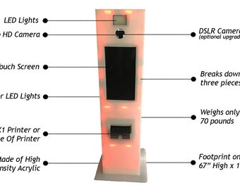 LED Portable Photo Booth by Photo Booth International