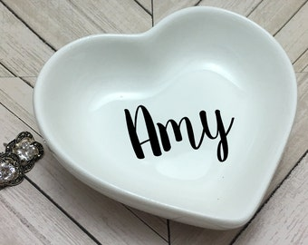 Monogram Ring Dish- Heart