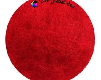 Needle Felting Maori Wool Batt / FB15 Passionate Kisses Maori Wool Fluffy Batt