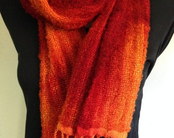 Silk and Alpaca handwoven scarf