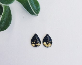 Stud earring, gold earrings, teardrop earrings