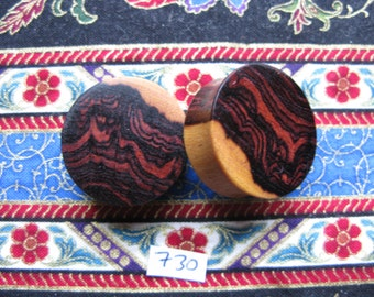 26mm Handmade Wooden Kingwood Ear Plugs Pair - Easy Care ( Overall size 27.5mm )