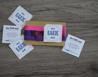 "The Lux Doll Pink & Purple Headband/ Ponytail holder for 18"" Dolls like the American Girl Doll"