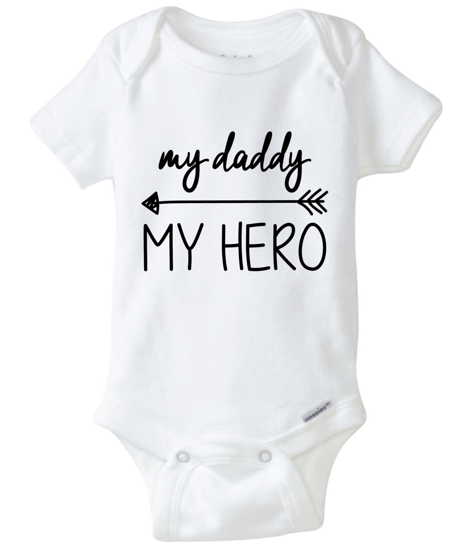 My Daddy My Hero Arrow Baby Onesie Design, SVG, DXF, EPS ...