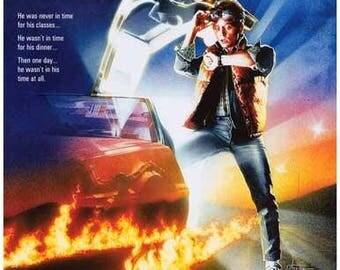 Back To The Future Michael J. Fox  Rare Vintage Poster
