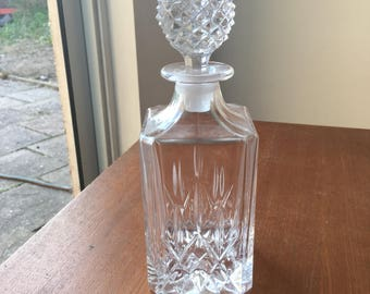 Crystal Cut Square Decanter