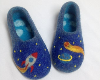 Children felted wool slippers, baby slippers, organic sheep wool slippers, kids house shoes
