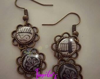 Ancient mandala earrings