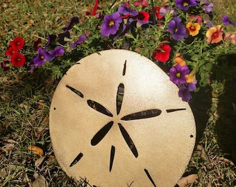 Metal wall art sand dollar