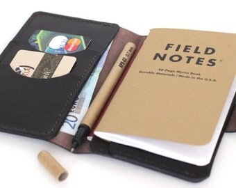 Field Notes Leather Cover Passport Wallet Leather Notebook Holder Leather Passport Holder Field Notes Leather Wallet Travel - Free gift