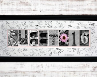 Sweet 16 Gift , 16th Birthday, Letter Art, Sweet16 Letter Art