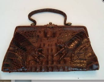 c.1950s authentic alligator purse