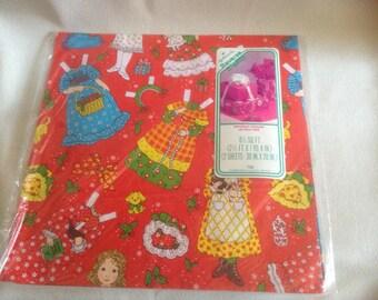 Vintage Christmas Paper Doll Reverse-a-Wrap