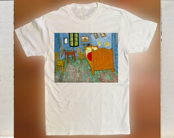 Van Goghs Painting, 'The Bedroom'  1888 Printed On A T Shirt