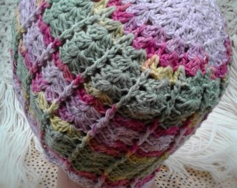 Crochet spring beanie, baby hat, spring hat, summer crochet hat