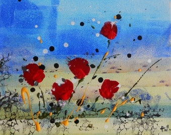 "Painting  "" Red flowers """