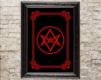 Unicursal Hexagram, Thelema, snake, serpent, Crowley, Kabbalah, ritual, altar, Sacred Geometry, magick, esoteric symbol, 206