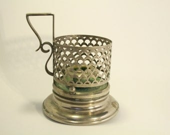 Candlestick in metal / Metal candle holder
