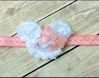 Minnie Mouse Headband/ Disney Headband / Infant Headband / Headband