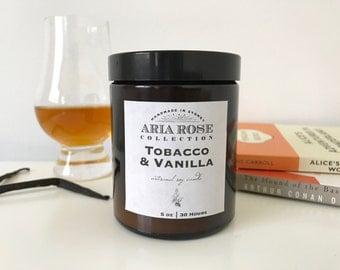 Tobacco & Vanilla Scented Soy Candle - 5 oz