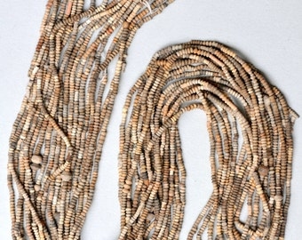 10 Strands of 3mm African Terra Cotta Beads from Mali - 36 Inch Necklace - African Trade Beads