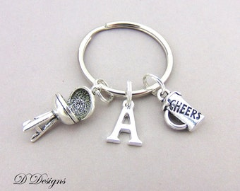 BBQ & Beer Keyring, BBQ Beer KeyChain, Drinks Key Chain, Drinks Keyring, Personalised Keychain, BBQ and Beer Gifts,