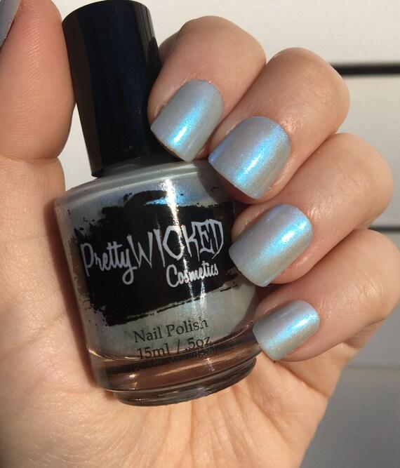 Blue Nail Polish Names: Pale Blue Nail Polish, Emma Nail Polish, Frost Blue Nail