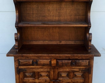 Vintage Spanish style Hutch or you can use the base as a Cabinet