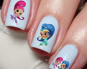 Shimmer and Shine Nail Art Sticker Water Transfer Decal 112