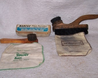 vintage shoe shine supplies