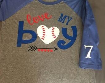 Love My Boy Baseball Shirt