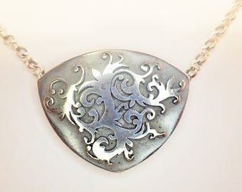 Collier Silber 925 geschwärzt / You can buy me, but I will be from 28.08. made or sent