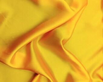 "Sunshine Yellow Silk Charmeuse Satin, 46"" inch, sold by the yard"
