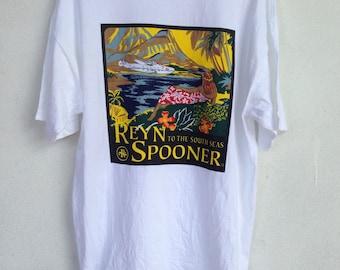 Reyn spooner hawaiian traditional tshirt L