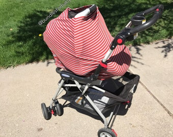 Stretch Carseat Canopy / Nursing Cover / cart cover / highchair cover / swaddle