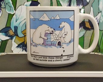 Vintage The Farside Comics LOL Funny 1980 Cup Mug